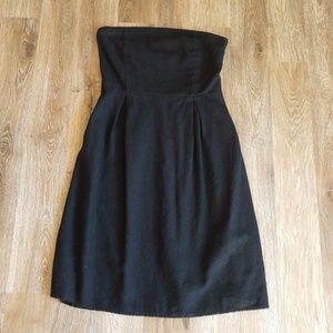 Black Strapless Dress - 2